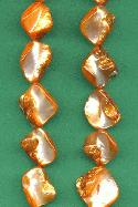 14'' Strand Apricot Mother-of-Pearl Beads