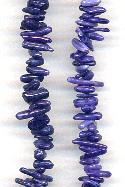 16'' Dark Purple Coral Chip Beads