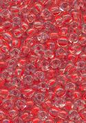 06/0 Clear/Red Seed Beads