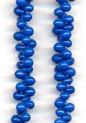 5mm Acrylic Royal Blue Magatama Beads