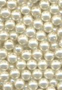 8mm Soft White Half Drilled Pearl Beads