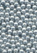 6mm Gray Acrylic Half-Drilled Pearls
