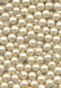 6mm Off-White Glass Half Drilled Pearls