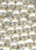 12mm White No Hole Acrylic Pearl Beads