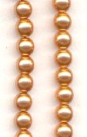 6mm Light Copper Glass Pearl Beads