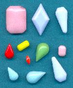 Mixed Opaque Glass Stones