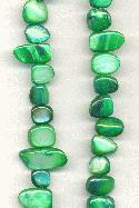 30'' Green Shell Beads 8-20mm
