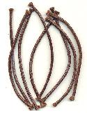 6'' Precut Brown Leather Cord Pieces