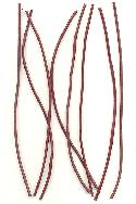 6'' Precut Red Leather Cord Pieces