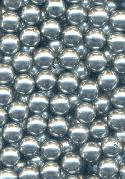 8mm Gunmetal Half Drilled Acrylic Beads