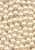 6mm Paritally Drilled Off-White Pearls