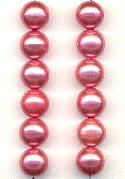 10mm Magenta Acrylic Pearl Beads