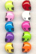12.5x11m Acrylic Multi-Color Skull Beads
