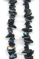 34'' Strand Black Obsidian Chip Beads