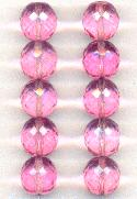 14mm Faceted Rose Czech Glass Beads