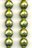 12mm Olive Pearl Coated Czech Beads