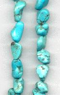 15 1/2'' Strand of Turquoise Nugget Beads