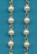 5mm White Acrylic Pearl Beaded Chain