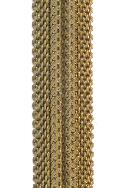 12mm Dapped Brass Mesh Chain