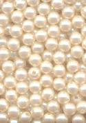 5mm Ivory Pearl Half Drilled Beads