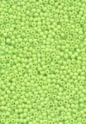 15/0 Opaque Lime Seed Beads