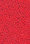 15/0 Opaque Cherry Red Seed Beads