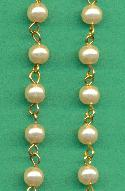6mm White Beaded Pearl Chain