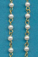 4mm White Acrylic Pearl Beaded Chain