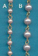 6mm Blush/Very Lt Lav Pearl Beaded Chain
