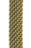 9.5mm Brass Oval Mesh Tube Chain
