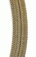 12mm Dapped Curved Brass Mesh Chain