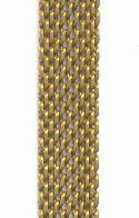 9.7mm Flat Mesh Brass Chain