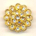 32mm GP Crystal Rhinestone Buttons