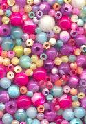 4mm to 6.5mm Mixed Pastel Shell Beads