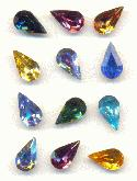 10x6mm MIXED Swarovski Pear RS