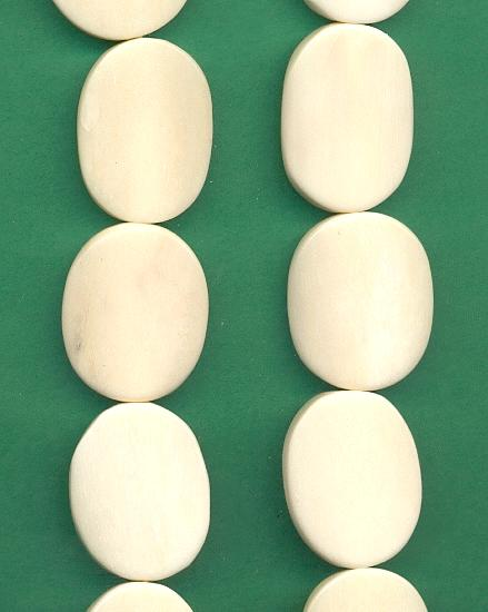 24x18mm Disk Oval Ivory Bone Beads Jan S Jewelry Supplies