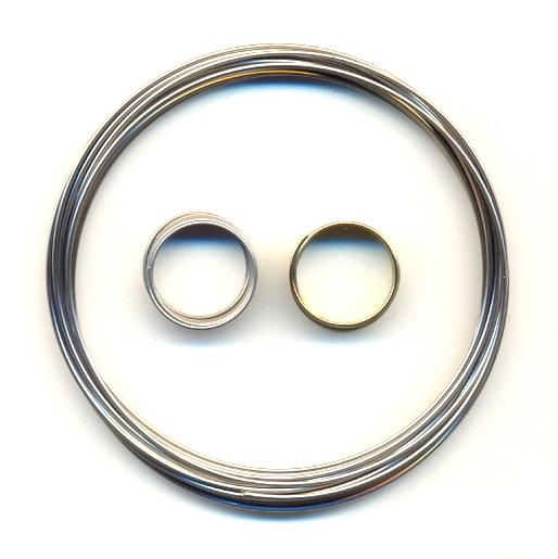 Steel Memory Wire Bracelet And Rings Set