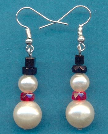 Snowman Earring Kit 6 Pair