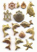 Mixed Sealife/Nautical Charms/Stampings