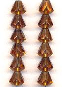 9x8mm Smoked Topaz Faceted Bell Beads
