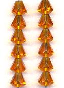 9x8mm Topaz Faceted Bell Beads