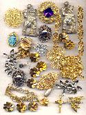 Mixed Lot of Jewelry/Brooch Findings