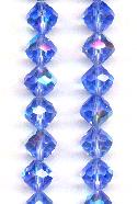 9mm Swarovski Sapphire AB Faceted Bead
