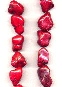 15''-16'' Large Red Magnesite Nugget Beads