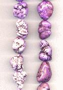15''-16'' Purple Magnesite Nugget Beads
