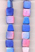 16'' Strand of Pink & Blue Wooden Beads