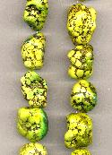 15''-16'' LG Green Magnesite Nugget Beads