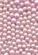 Mixed Pink Pearl Glass No-Hole Beads