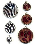 Mixed Lot of Animal Print Shell Pendants