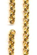 15'' Pre-Cut 4mm Gold Plated Rolo Chain